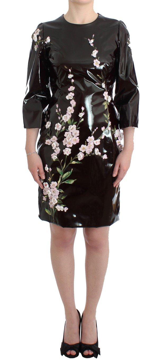 Dolce & Gabbana Women's patent floral Dress Black SIG12063 - IT42 M