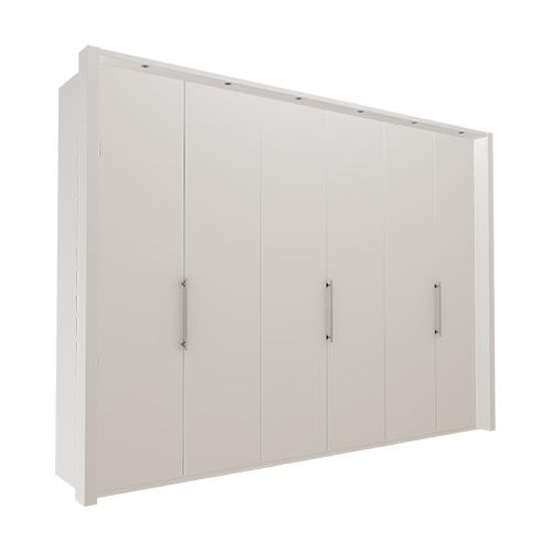 Garderobe Atlanta - Hvit 300 cm, 216 cm, Med ramme