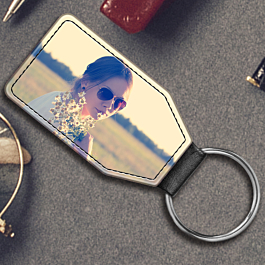 Faux Leather Keyring