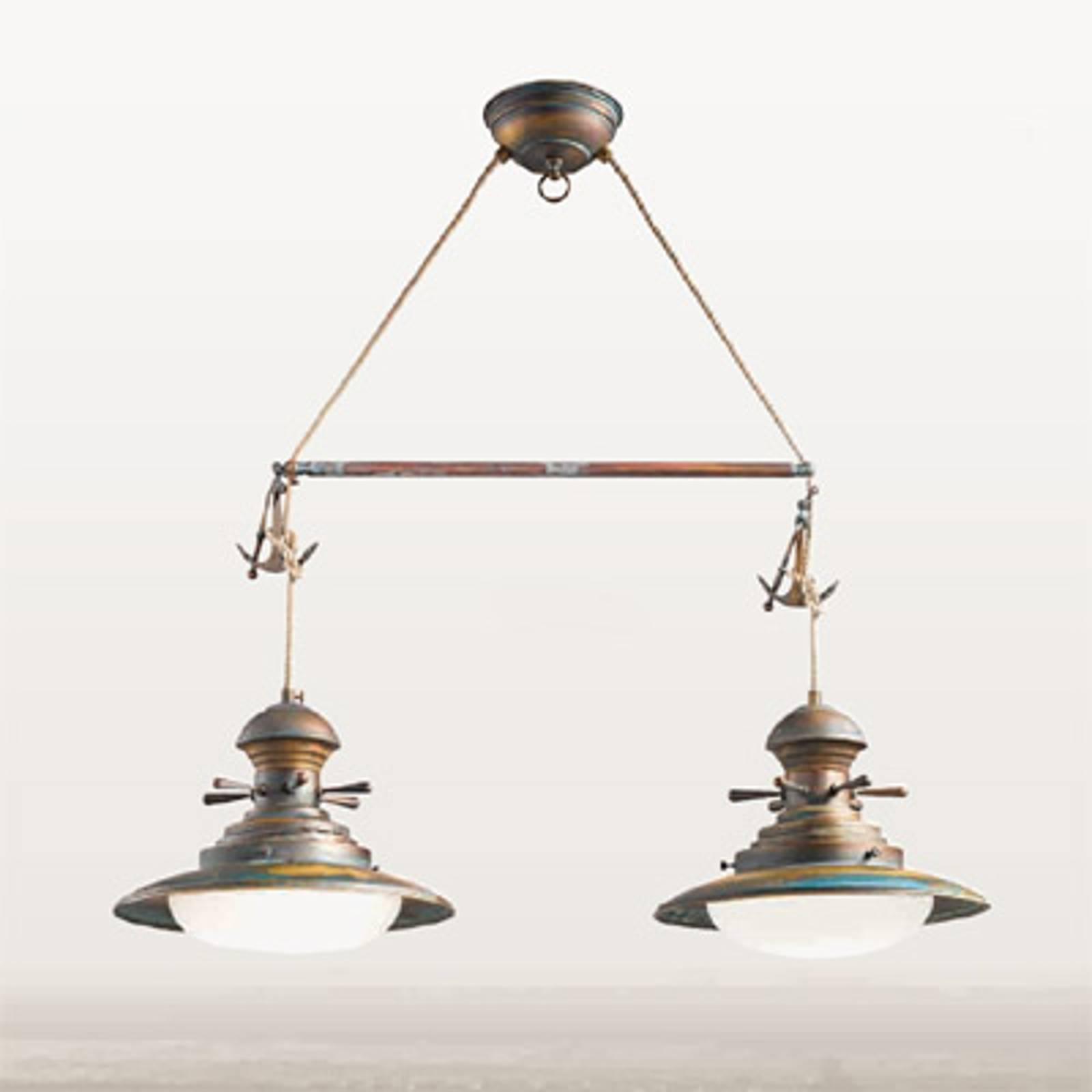 Riippuvalaisin Baia, 2 lamppua, kiillotettu vihreä