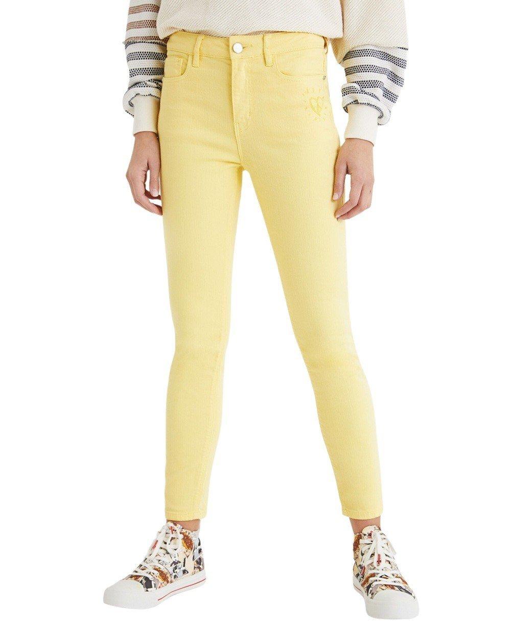 Desigual Women's Trouser Various Colours 203944 - yellow 40