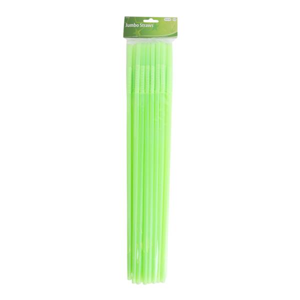 Jättesugrör Neongröna - 25-pack