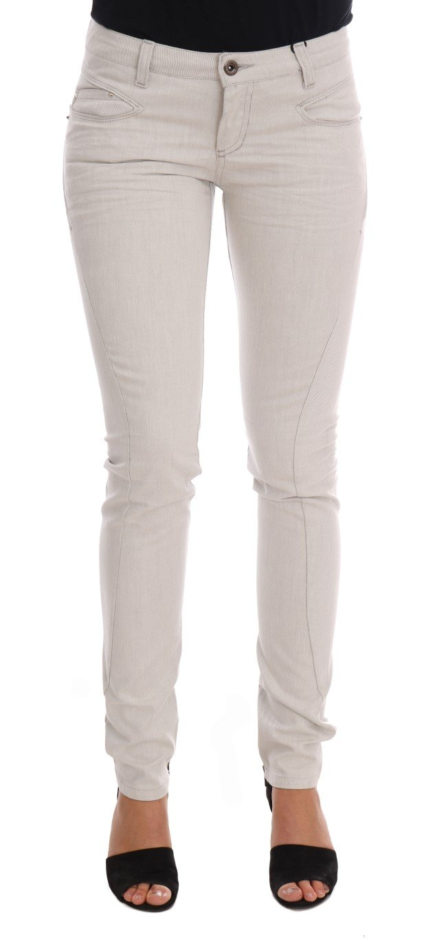 Costume National Women's Cotton Stretch Slim Jeans White SIG30129 - W26