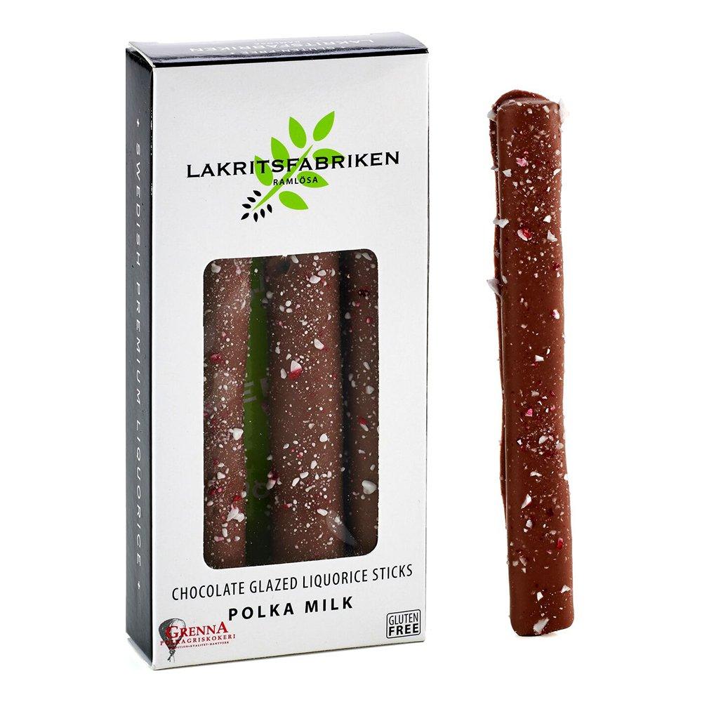 Lakritssticks Mjölkchoklad/Polka - 45 gram