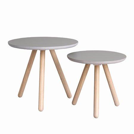 Russel Settbord Runde Grå/Hvitpigmentert eik