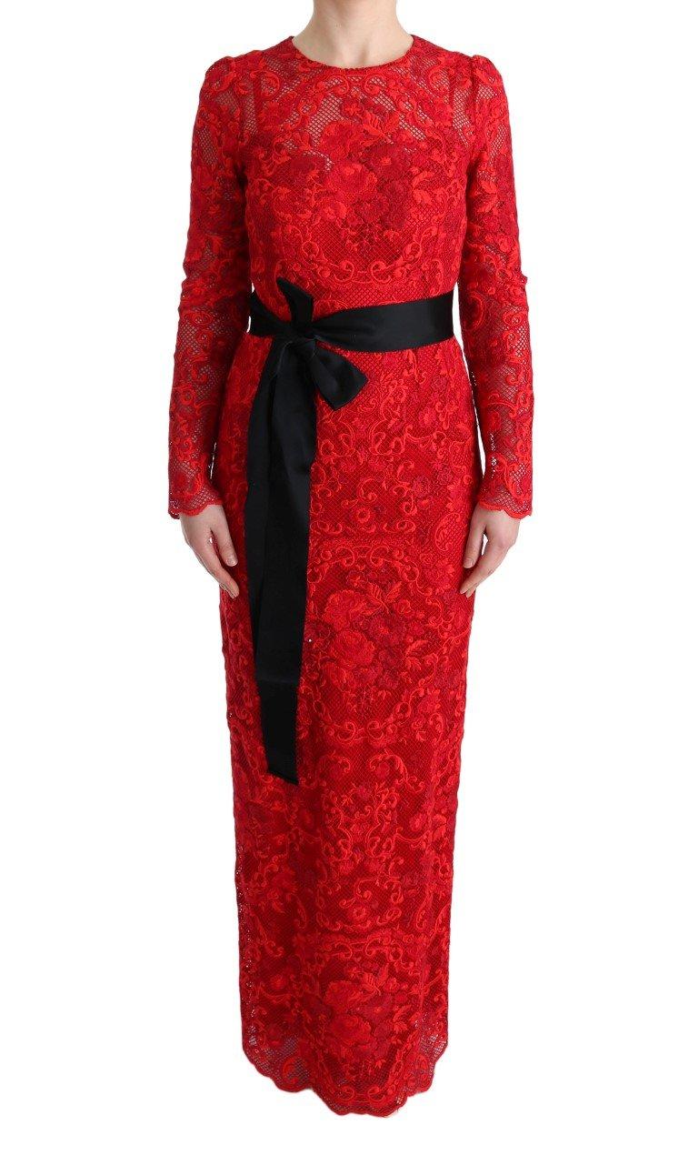 Dolce & Gabbana Women's Floral Ricamo Sheath Dress Red SIG60570 - IT40|S