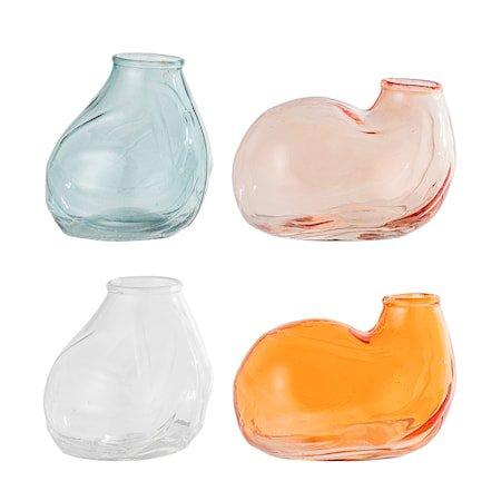 Vase Multi-color Glass sett med 4