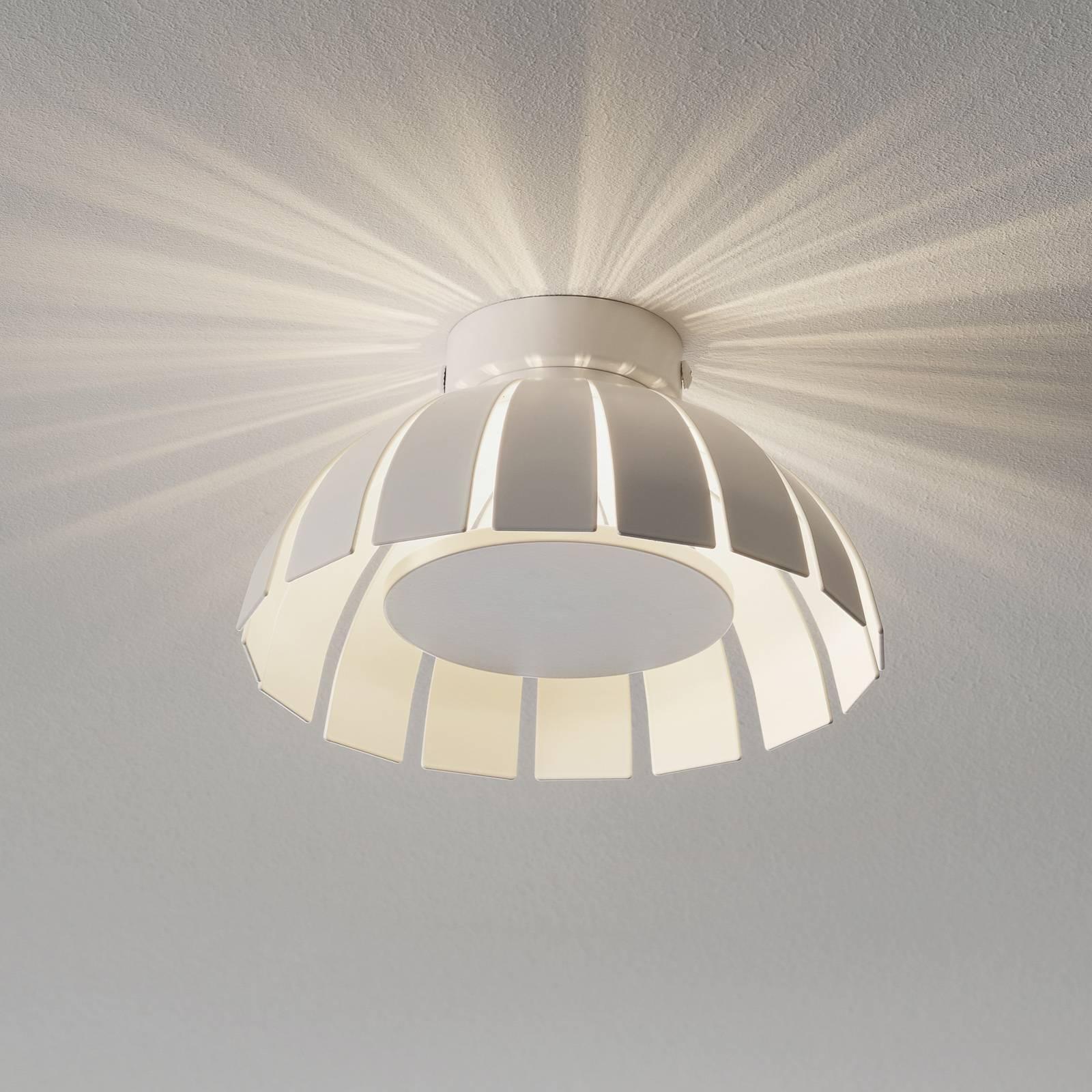 Valkoinen LED-design-kattovalaisin Loto, 20 cm