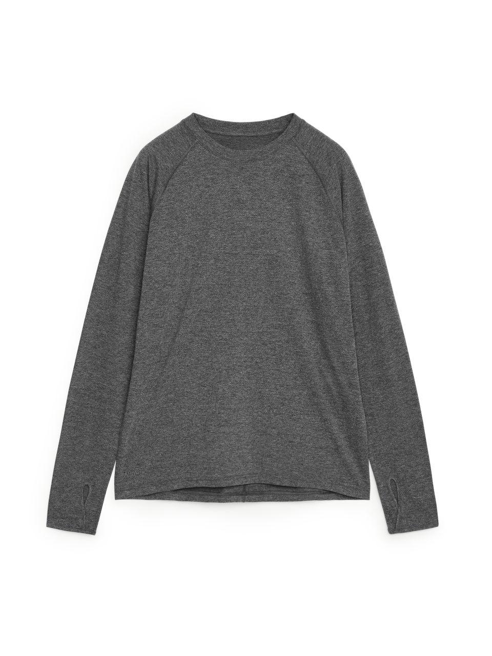 Long Sleeve Training T-Shirt - Grey