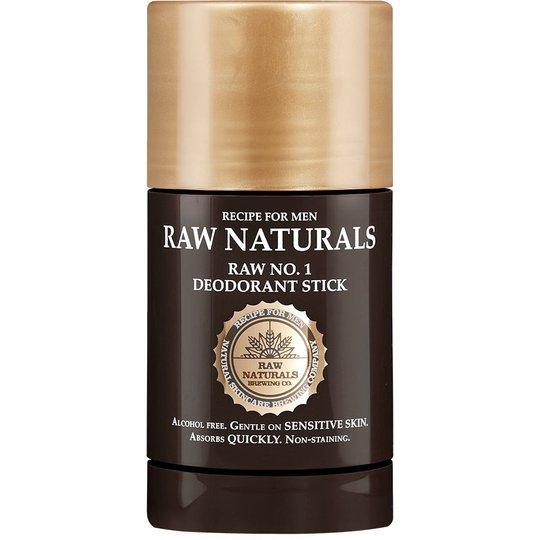 No1 Deodorant Stick, 75 ml Raw Naturals by Recipe for Men Deodorantit