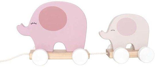 Jabadabado Trekkedyr Elefant Rosa