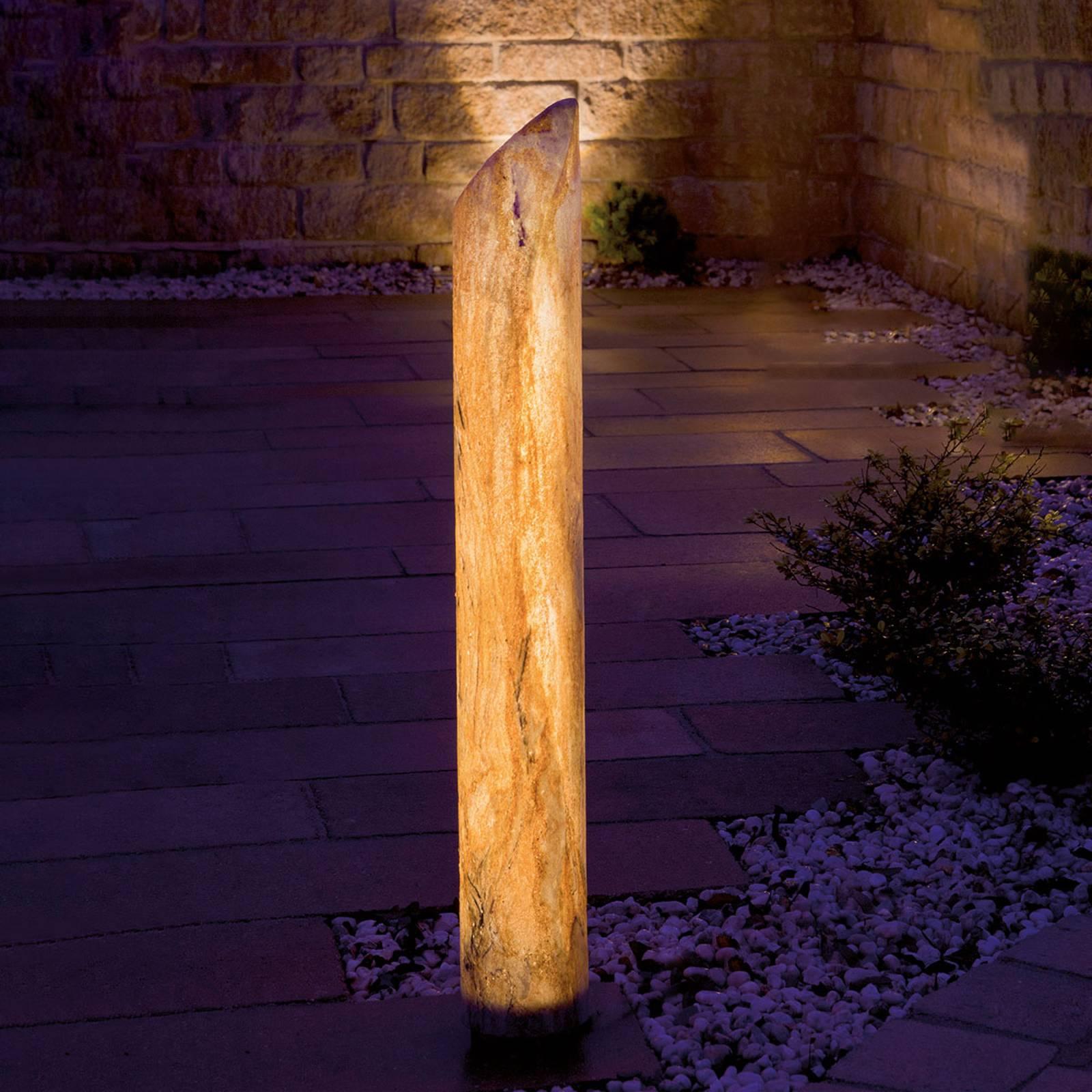 LED-pylväs Sahara, hiekkakivi, 80 cm