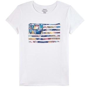 Ralph Lauren Multi Flag Logo T-shirt Vit 3 år