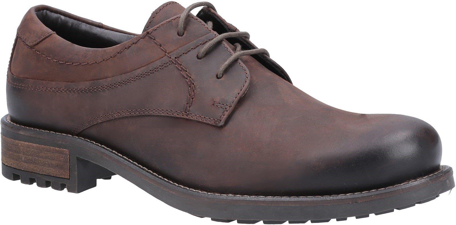 Cotswold Men's Brookthorpe Plain Toe Derby Shoe Brown 31009 - Brown 10
