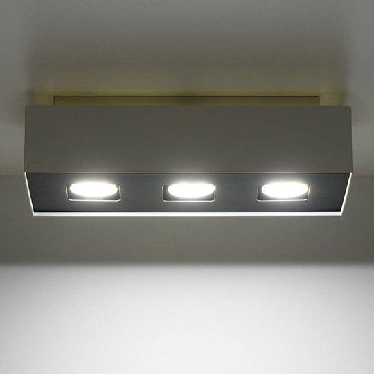 Kasia taklampe av stål i hvitt, 3 lyskilder