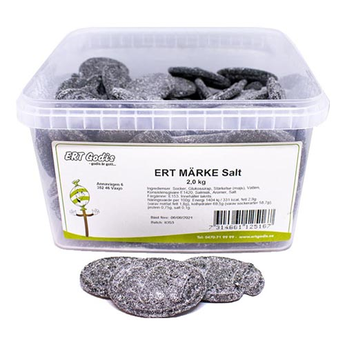 ERT Märke Salt Lösvikt i Burk - 2 kg