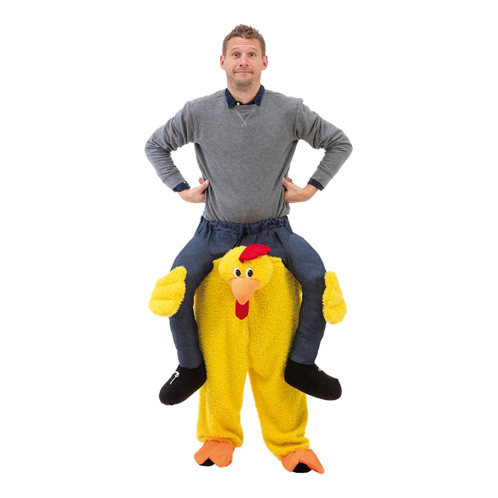 Ridande Kyckling Maskeraddräkt - One size