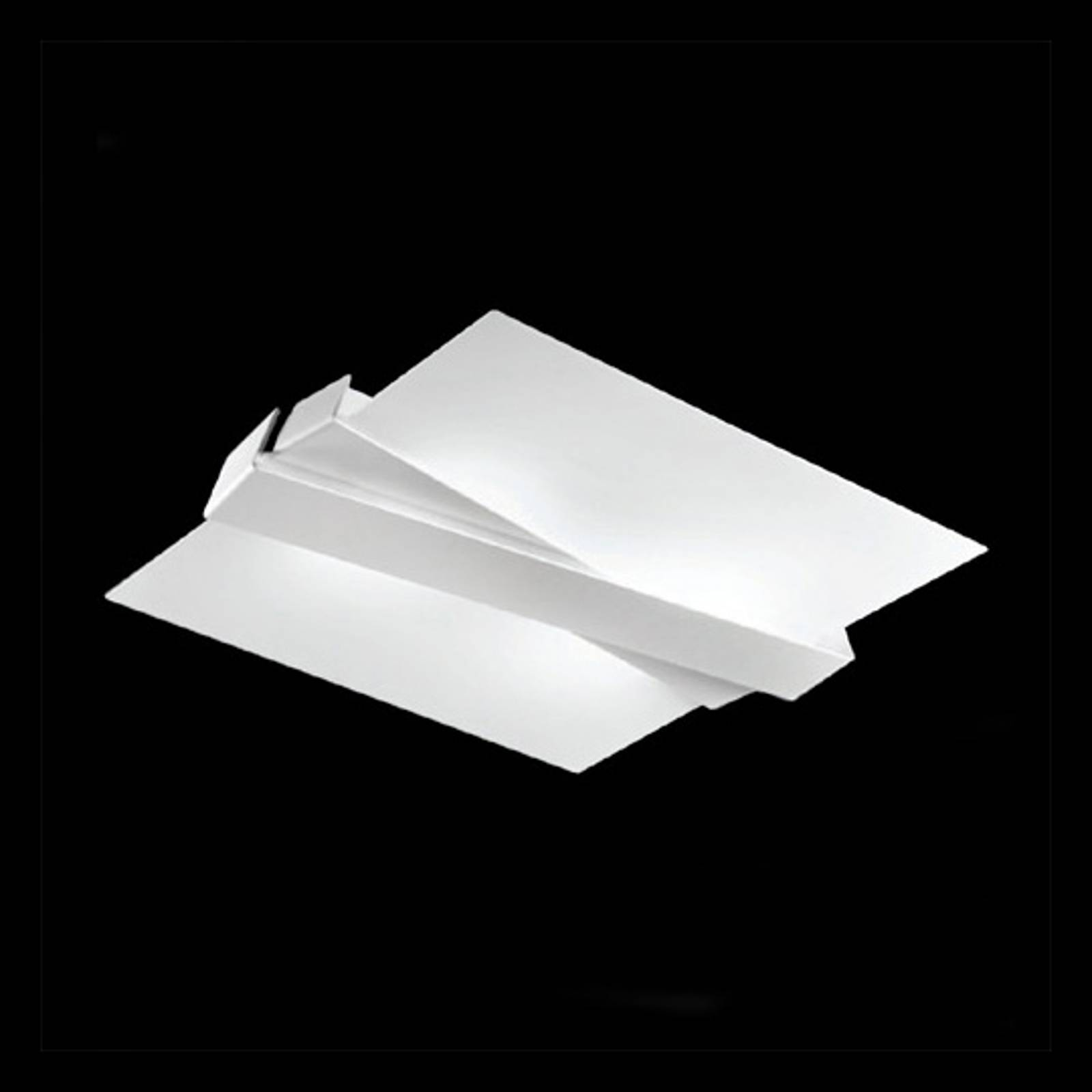 Moderni kattovalaisin ZIG ZAG, valkoinen