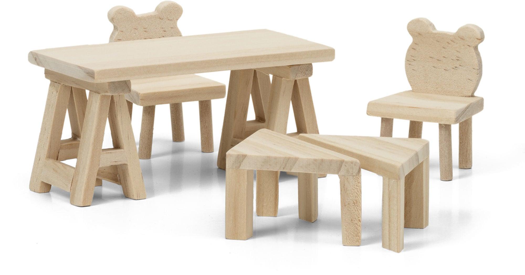 Lundby Nukkekodin Kalusteet Pöytä ja Tuolit DIY