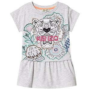 Kenzo Tiger Logo Mjukis-klänning Grå 14 years