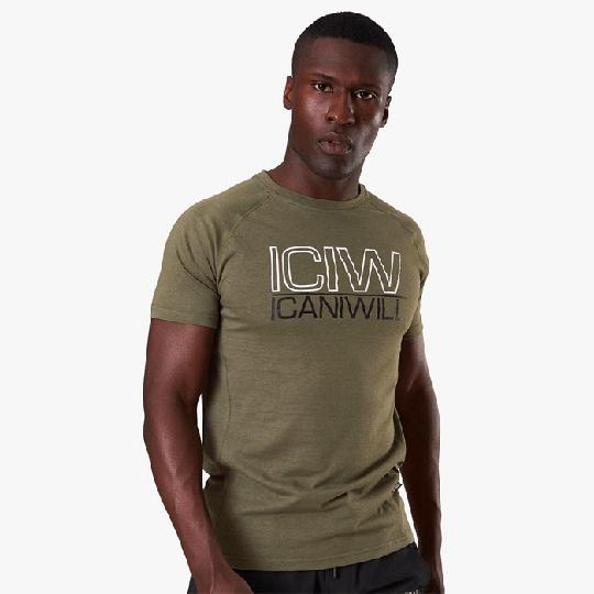ICIW Men Tri-Blend T-Shirt, Army