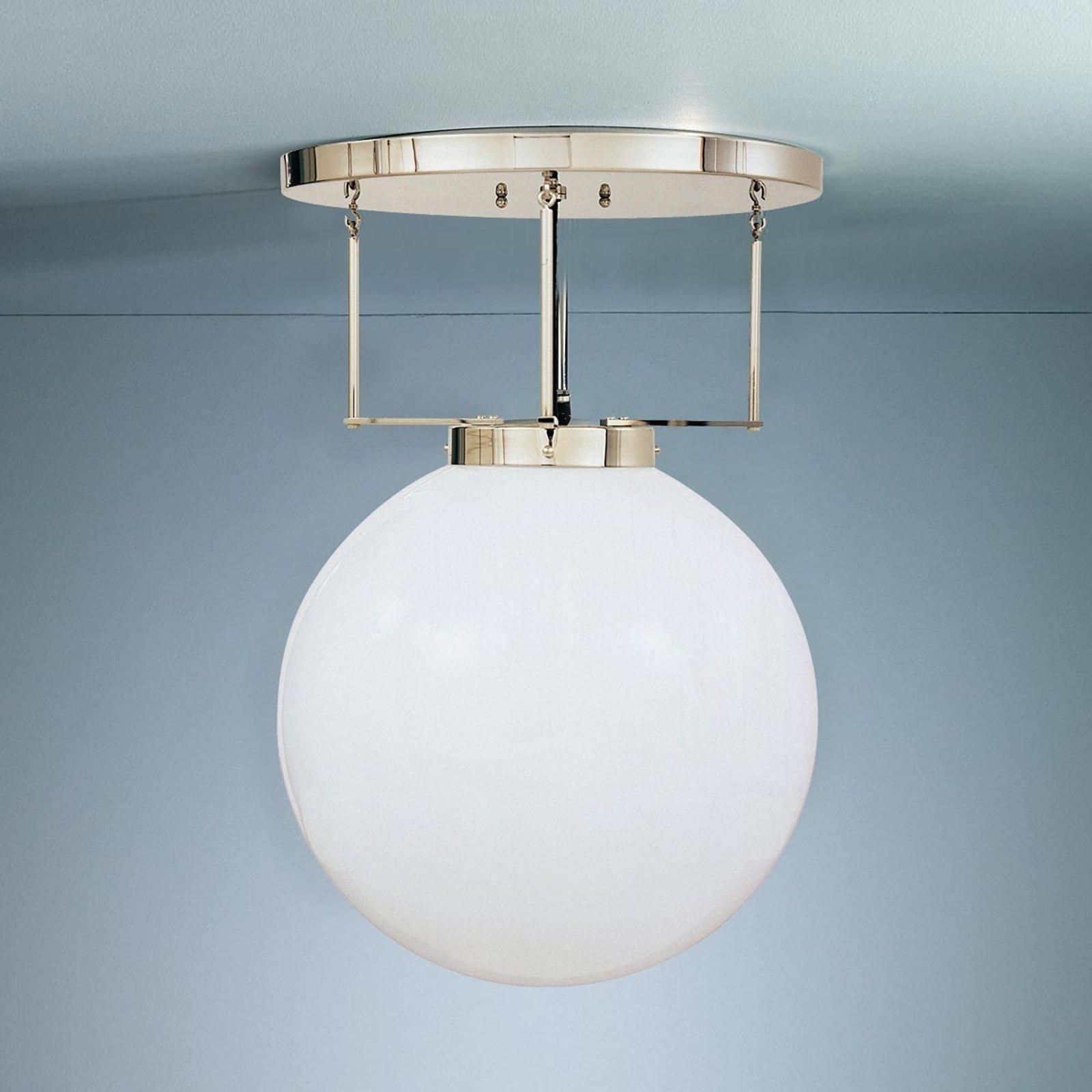 Taklampe i messing i Bauhaus-stil 35 cm