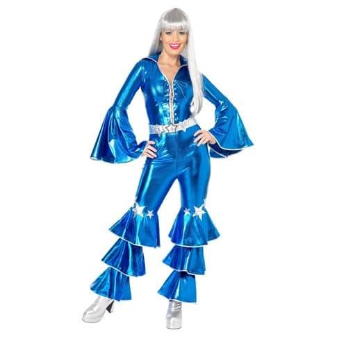 Maskeraddräkt Dancing superstar blå S