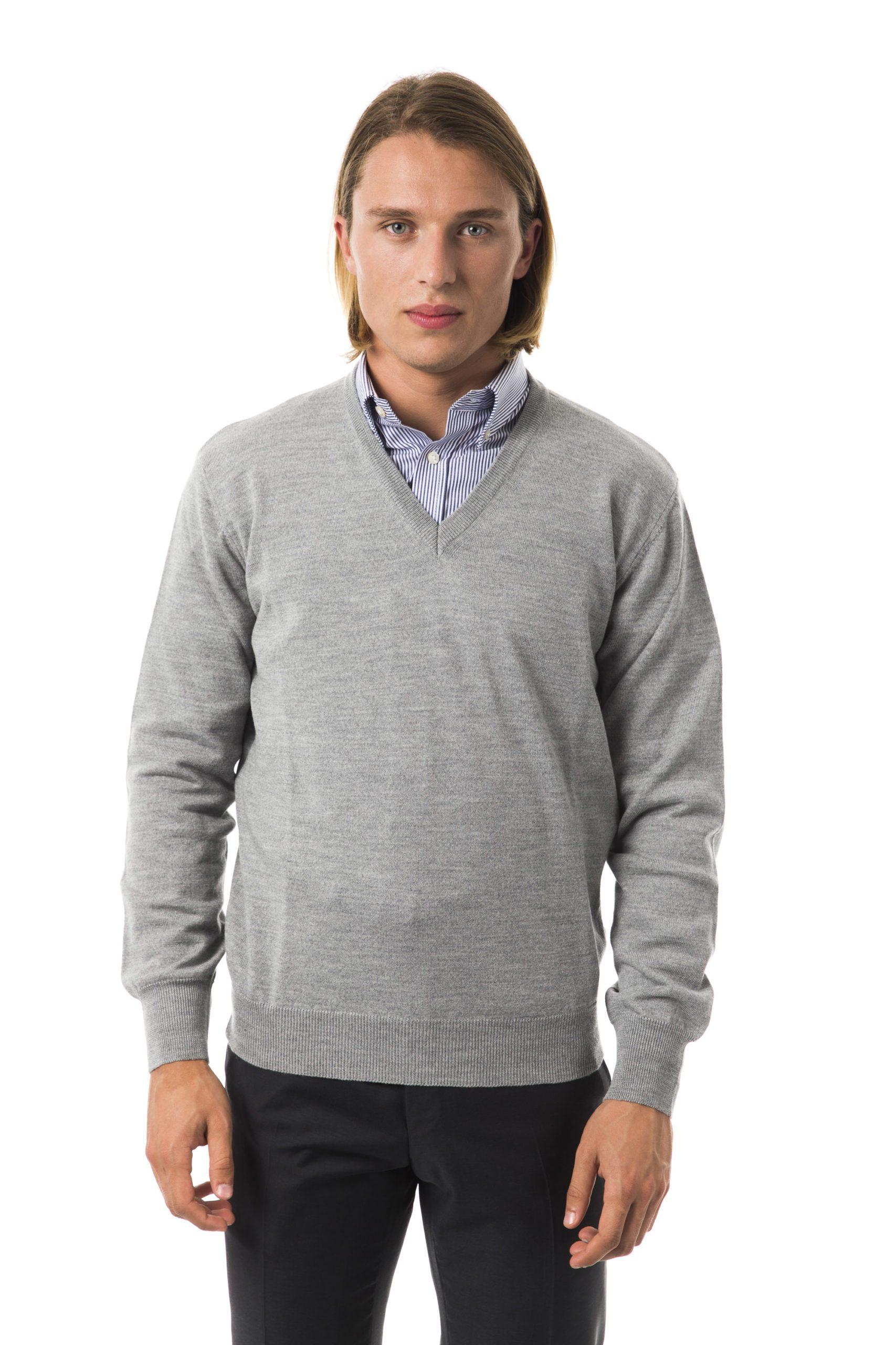 Uominitaliani Men's Grimd Sweater Gray UO816128 - M