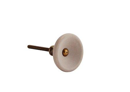 Dørhåndtak Ø 4 cm - Grå/messing