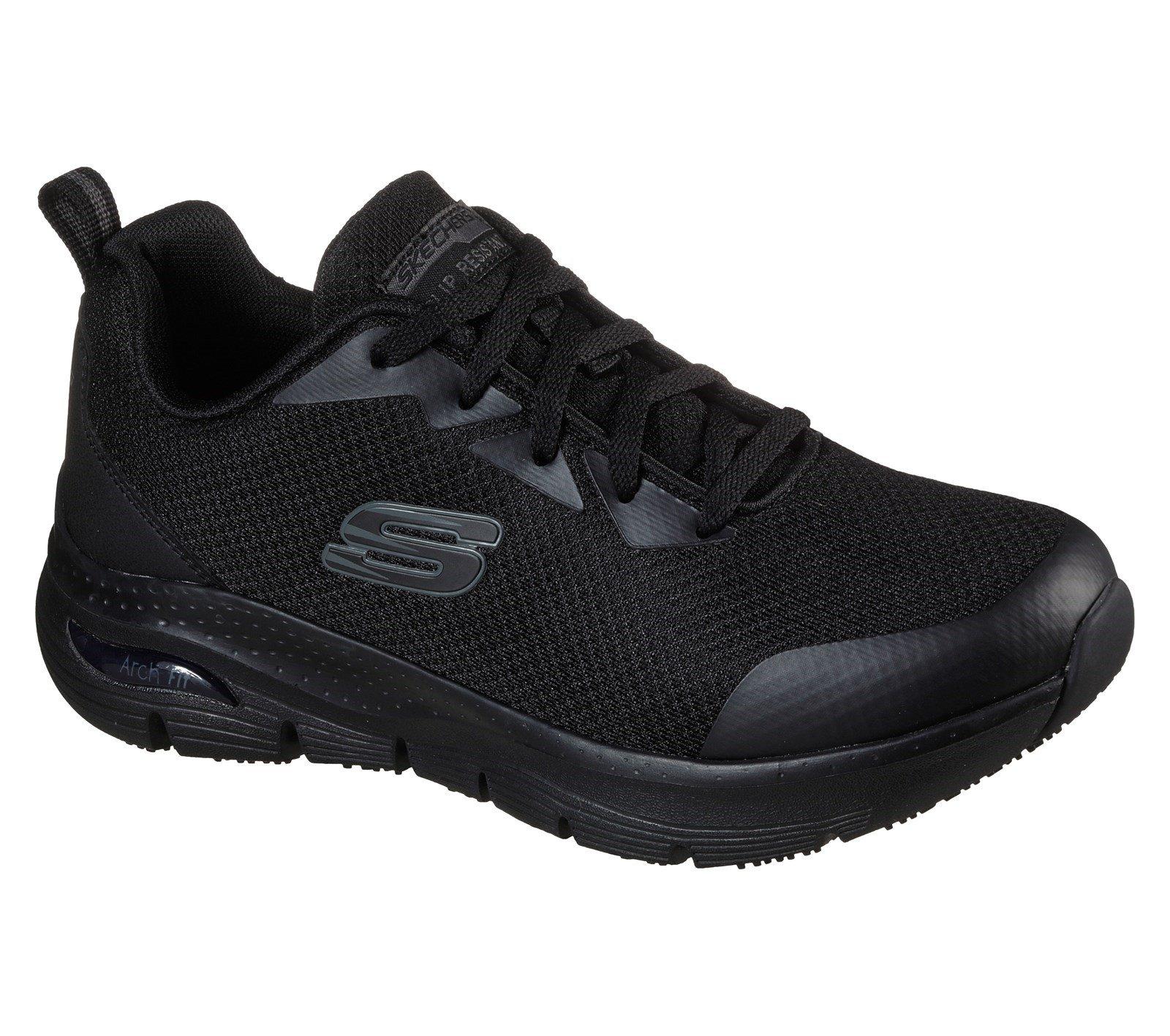 Skechers Women's Arch Fit Sr Trainer Black 32947 - Black 3