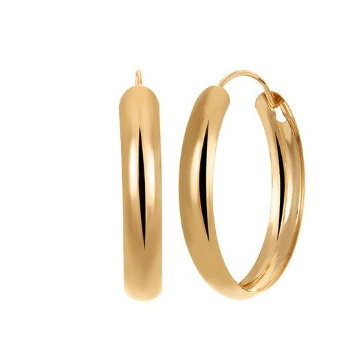 Örhängen i 18K guld 24mm