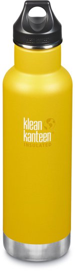 Klean Kanteen Insulated Classic Loop Cap Vannflaske 592ml, Lemon Curry