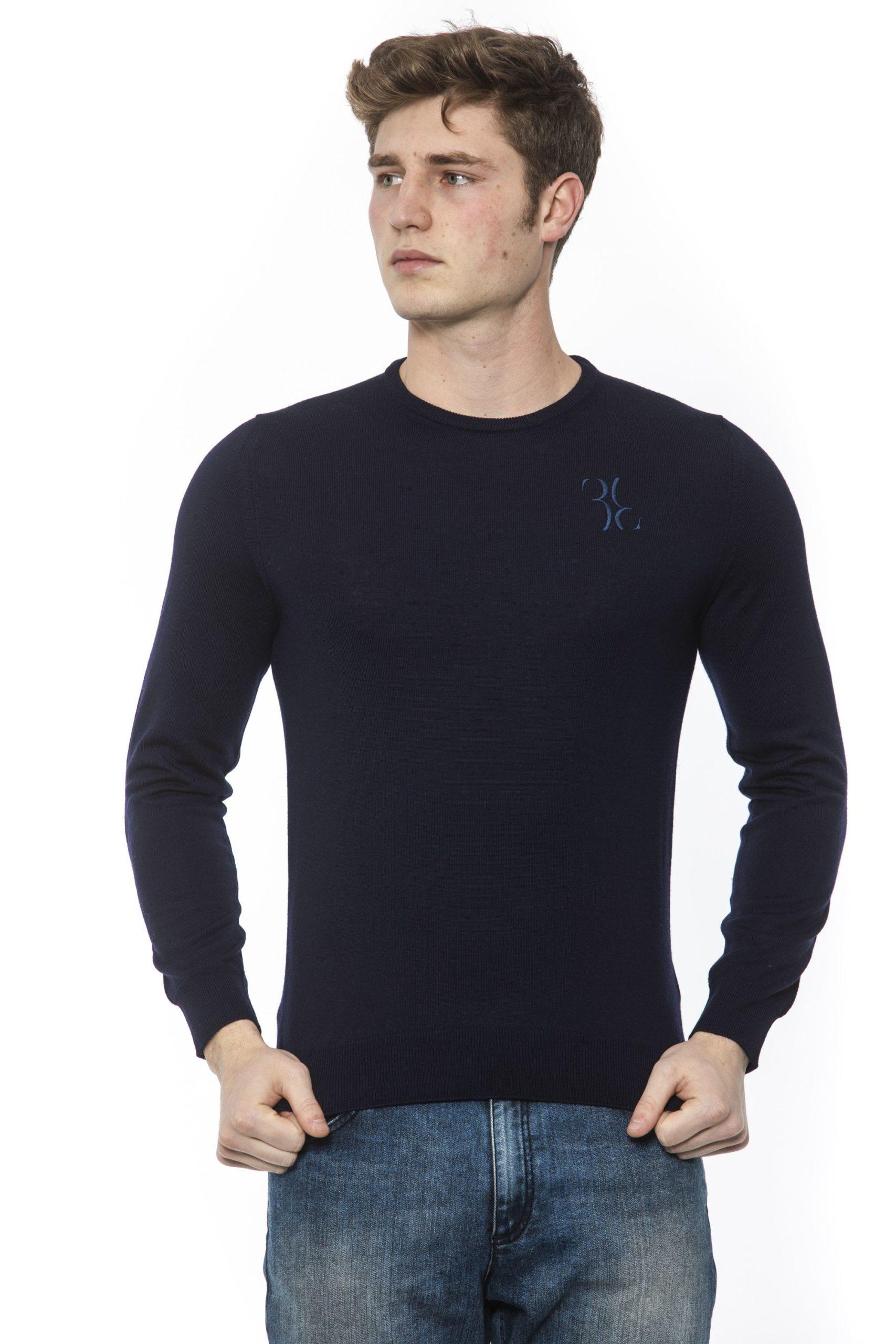 Billionaire Italian Couture Men's Sweater Blue BI1313317 - IT48 | M