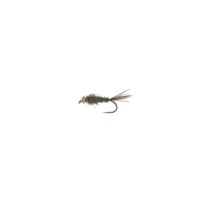 Bead Head Flashback PT Olive #12 Kjøp 12 fluer få gratis flueboks