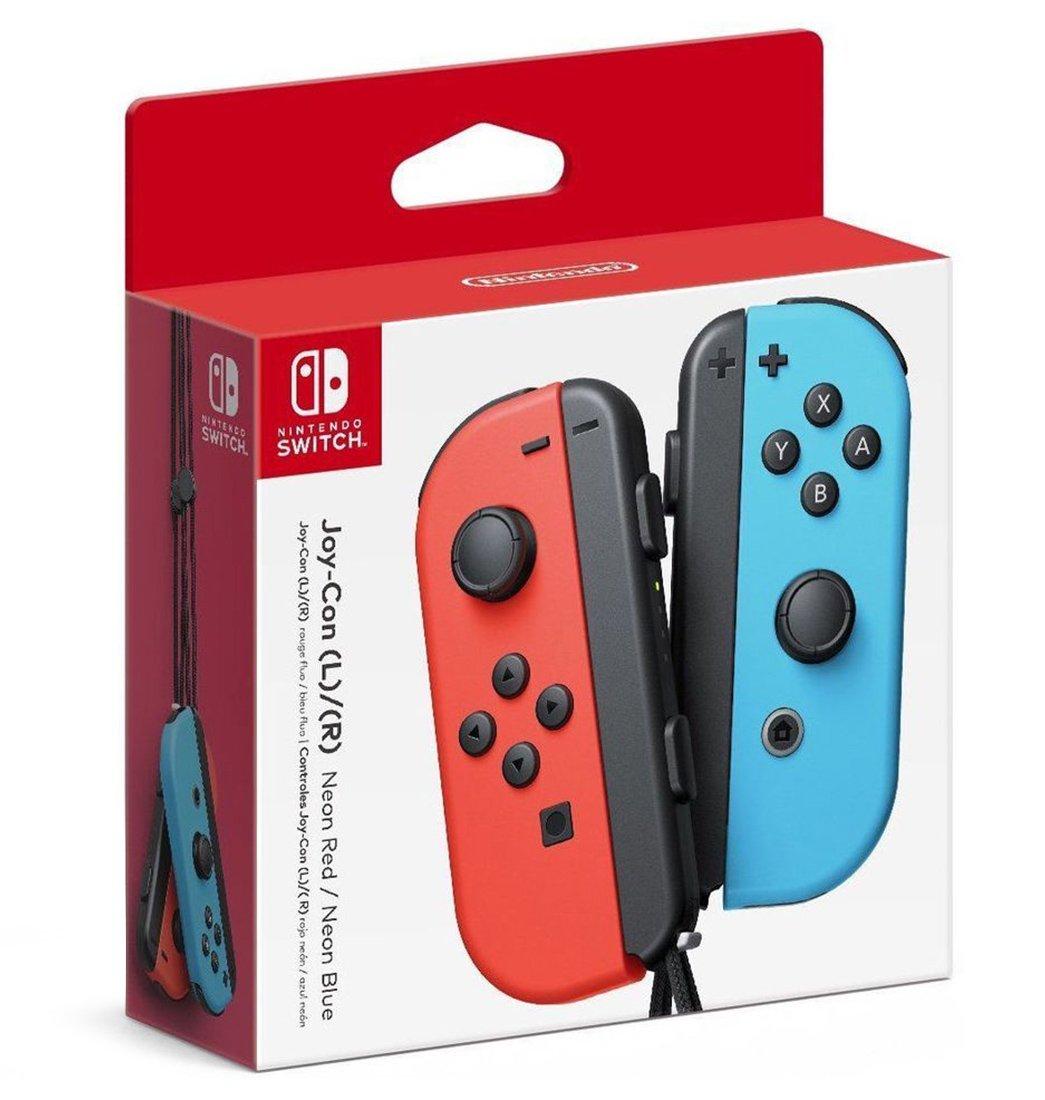 Nintendo Switch Joy-Con Controller Pair - Neon Red (L) & Neon Blue (R)