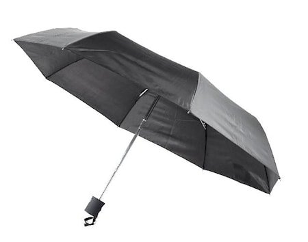 Miniparaply automatisk, svart