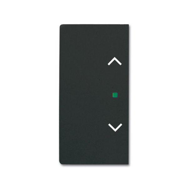 ABB Future Linear 6220-0-0625 Yksiosainen vipupainike verhot, oikea/vasen Musta