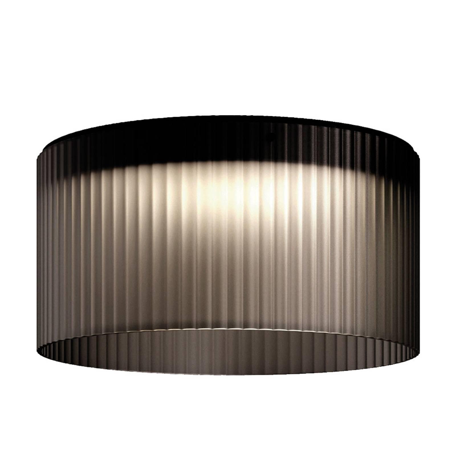 Kundalini Giass -LED-kattovalaisin Ø 50 cm harmaa