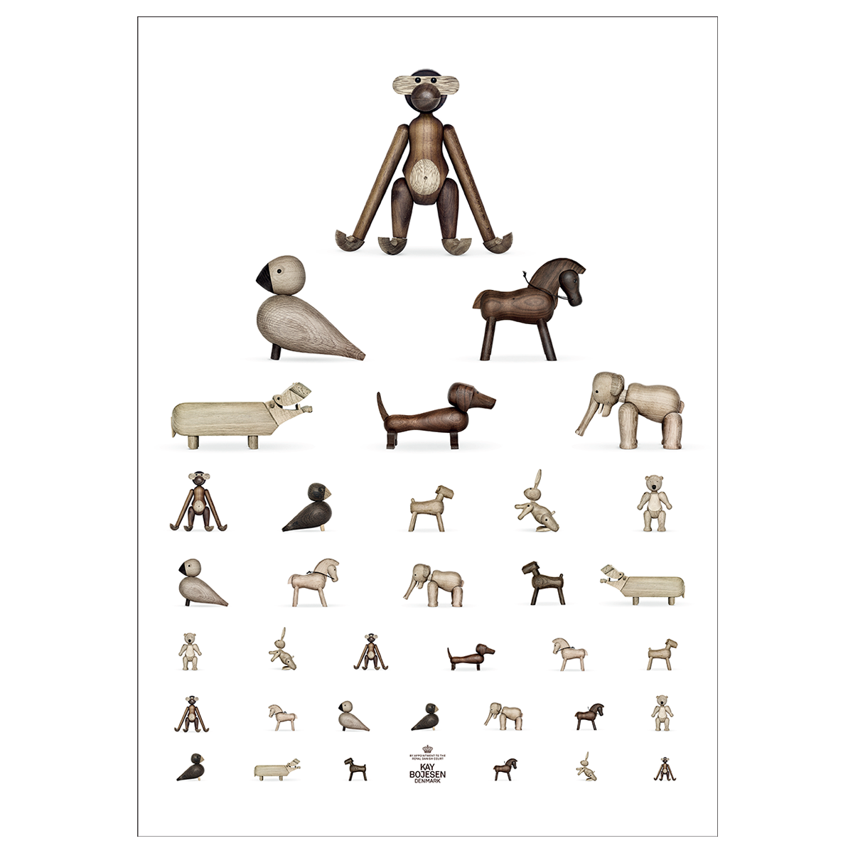 Kay Bojesen - Poster 50 x 70 cm - Brown/White (39490)