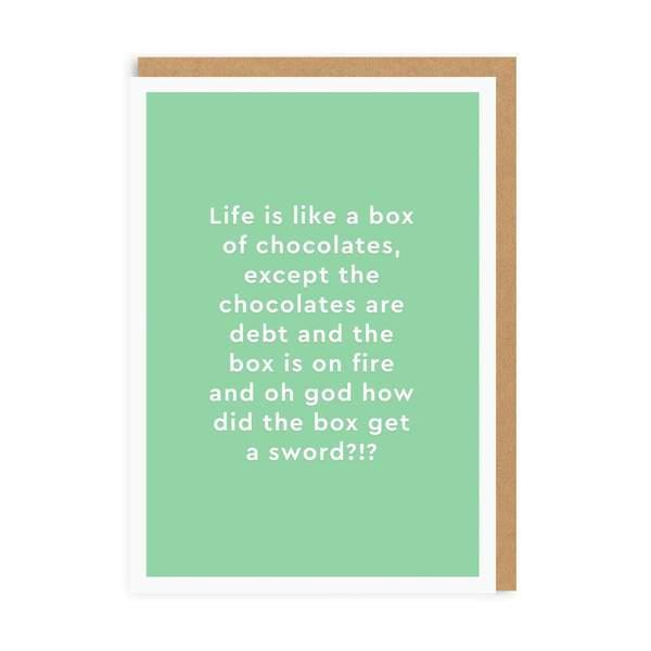 Box of Chocolates Greeting Card