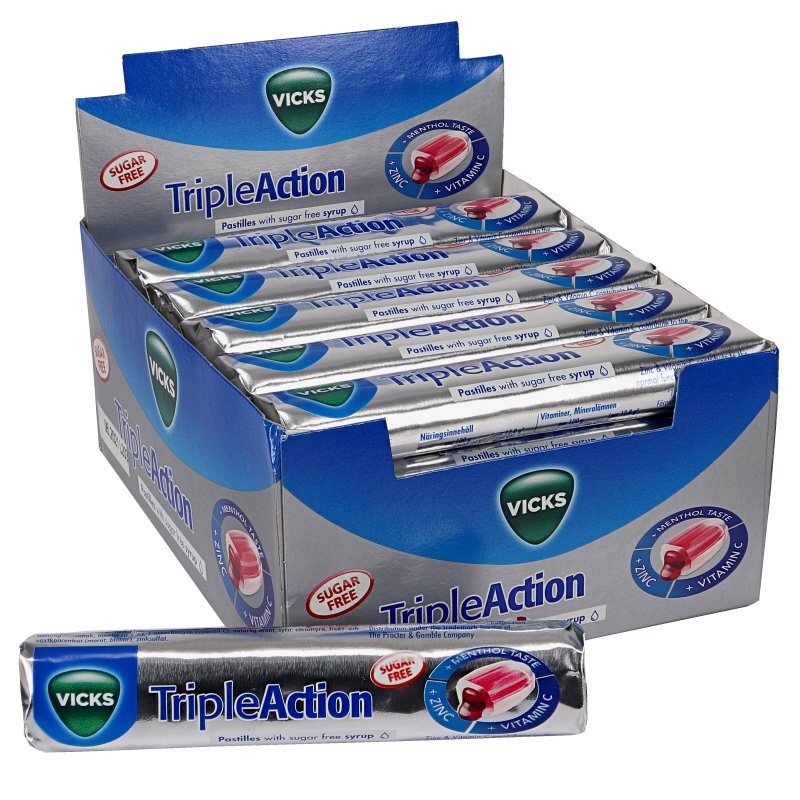 Triple Action Sugar Free Stick 24-pack - 82% rabatt