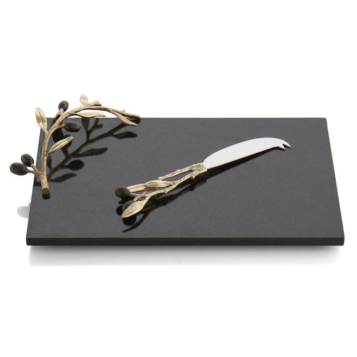 Michael Aram I Olive Branch Cheese Board w/ Knife