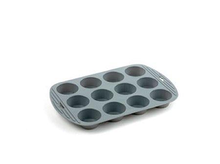 Muffinsform 12 hull Grå silikon