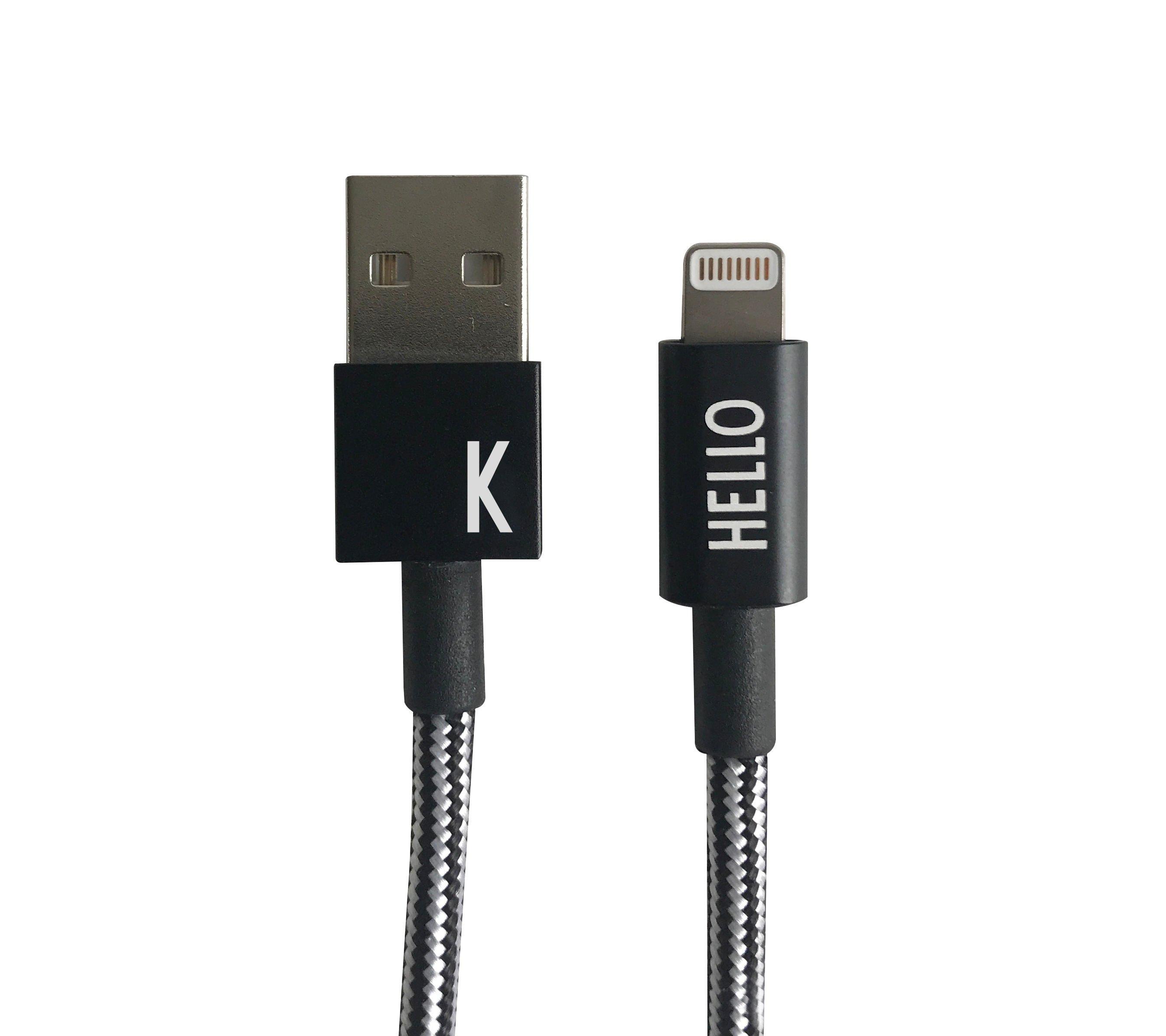 Design Letters - Lightning Cable 1 Meter K - Black (60201010K)