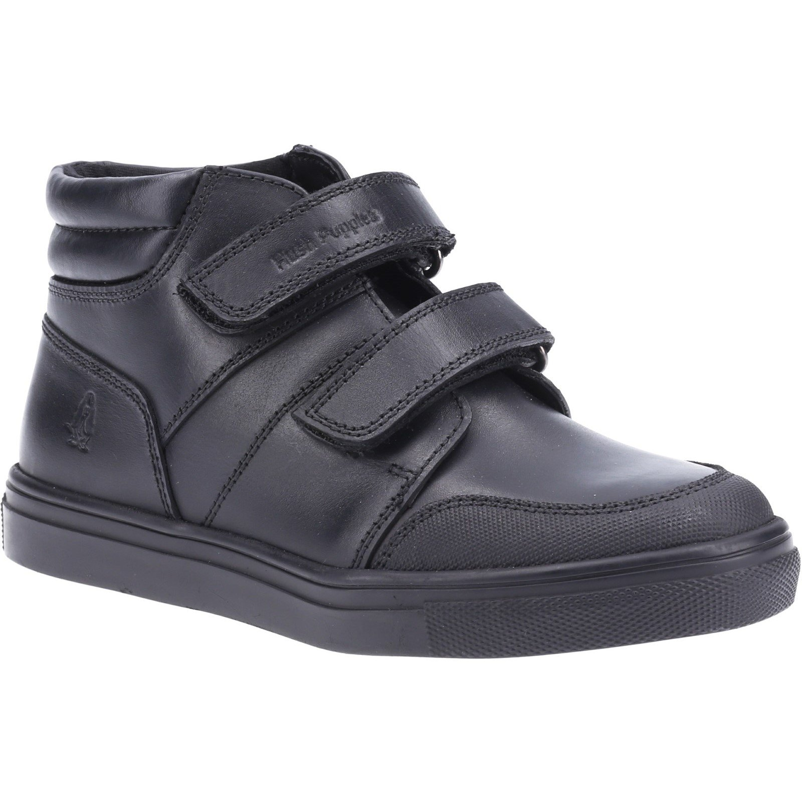 Hush Puppies Kid's Seth Senior School Boot Black 32570 - Black 6