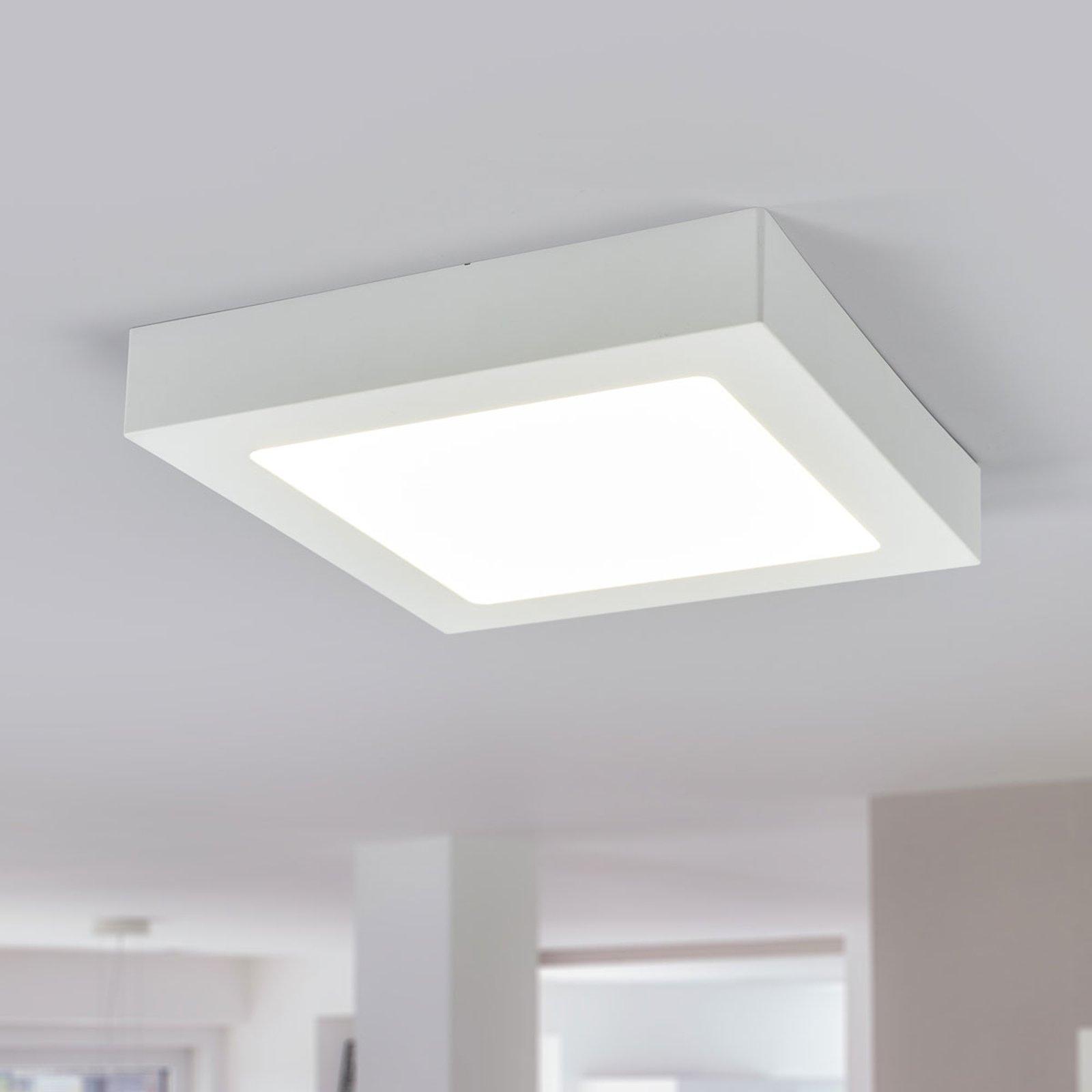 LED-taklampe Marlo, hvit, 4 000 K kantet 23,1 cm