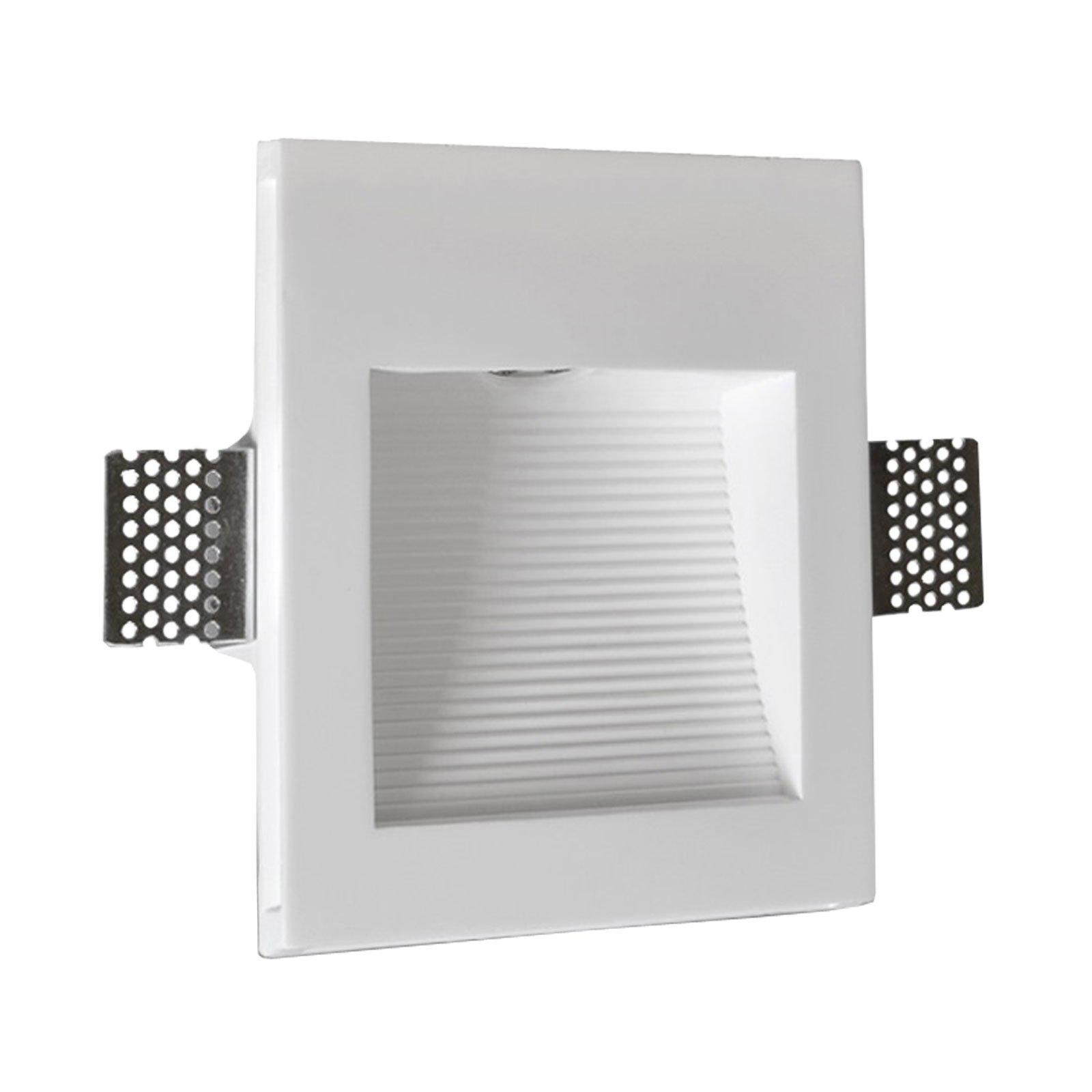LED innfelt vegglampe Zimant av gips