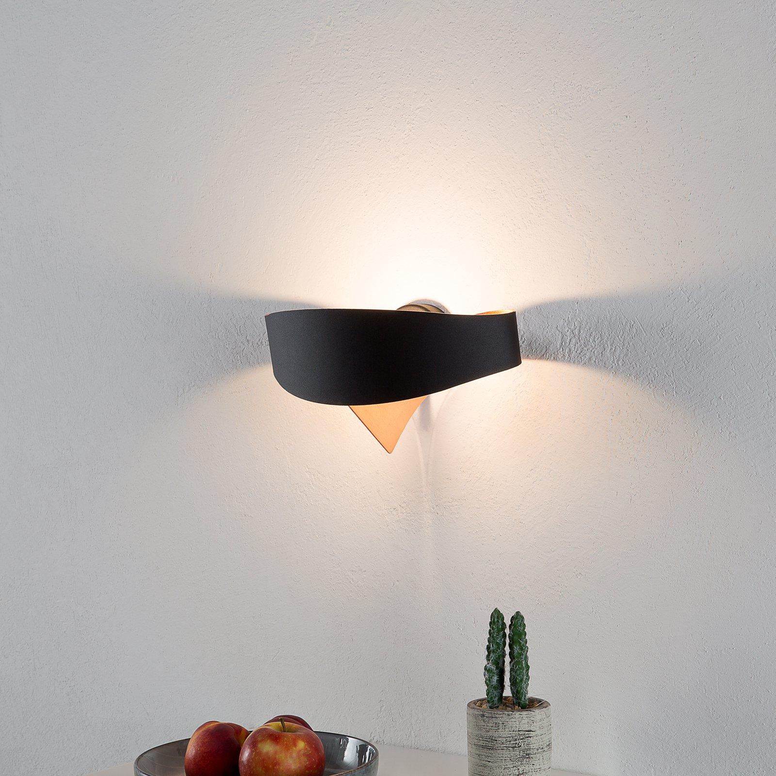 Kobberfarget innside – LED-vegglampe Scudo