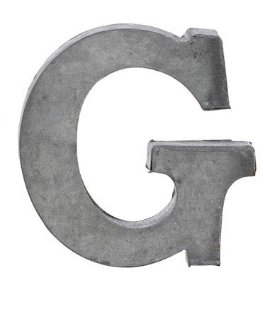 Bokstav G 5,5 cm - Zinc