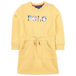 Ralph Lauren Floral Logo Fleece Klänning Banana Peel 2 år